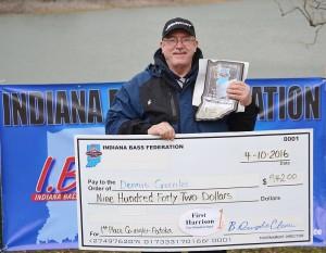 Co-angler winner Dennis Greenlee