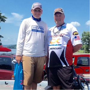 Day 2 boat captain Bryan Wright and Scott.