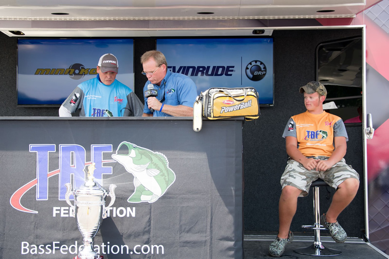 Day 2, Scott weighs in a five bass limit for 11-03 moving him into 1st place.