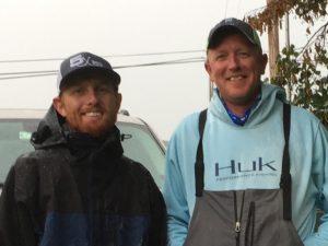 Winners Steven Neale, left, and George Crooks.